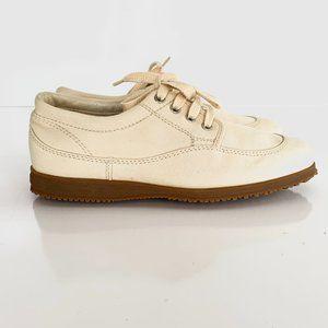 HOGAN by Tod's Scarpa Beige Canvas Sneakers